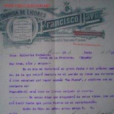 Cartas comerciales: CARTA COMERCIAL DE FRANCISCO DAVÓ.MEXICO.MEJICO.FABRICA DE LICORES. Lote 6250494