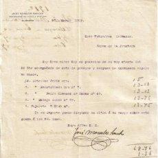 Cartas comerciales: ALMAGRO. AÑO 1912. CARTA COMERCIAL DE JOSÉ MORALES SANCHO. COMERCIANTE EN PIELES Y CURTIDOS.. Lote 3870298
