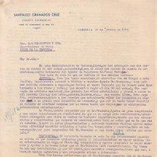 Cartas comerciales: ALMERIA-CARTA COMERCIAL DE AGENTE COMERCIAL SANTIAGO GRANADOS CRUZ. ALMERIA, 28 DE ENERO DE 1943.. Lote 15041981