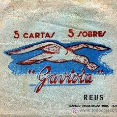 Cartas comerciales: REUS SOBRE DE 5 HOJAS DE CARTA CON FOTOS DE REUS FALTAN LOS SOBRES . Lote 4007483