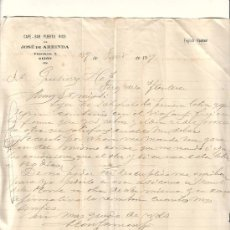 Cartas comerciales: GIJON-CARTA COMERCIAL DE CAFE BAR PUERTO RICO DE JOSE ARRINDA. GIJON, 29 DE JUNIO DE 1929.. Lote 7738687