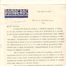 Lettres commerciales: JEREZ-CARTA COMERCIAL DE BOMBREROS. F.R.A.B. CUERPO. JEREZ, 6 DE JULIO DE 1936.. Lote 4700724