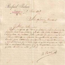 Cartas comerciales: VALENCIA. 1915. RAFAEL PALAO.. Lote 8686469