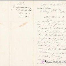 Cartas comerciales: 1872-SEVILLA-CARTA COMERCIAL DE CIRCULO DE LECTORES Y PROPIETARIOS.. Lote 8014259