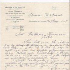 Cartas comerciales: ESTACION CORTES DE LA FRONTERA-CARTA COMERCIAL DE FABRICA DE AGUARDIENTES DE ASERRAR MADERAS. Lote 5107832