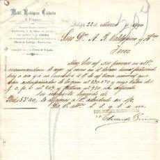 Cartas comerciales: LEBRIJA ( SEVILLA). 1900. CARTA COMERCIAL DE EXPLOTADORA DE LAS MINAS DE LEBRIJA. MEDEL, RODRIGUEZ.. Lote 7726806
