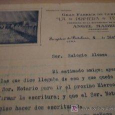 Cartas comerciales: GRAN FABRICA DE CURTIDOS LA PRIMERA TENERIA. Lote 7110266