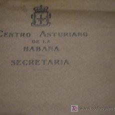 Cartas comerciales: CENTRO ASTURIANO DE LA HABANA,SECRETARIA. Lote 6458309