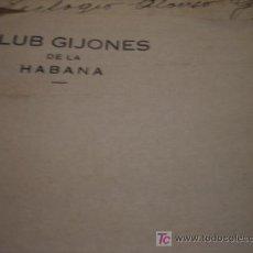Cartas comerciales: CLUB GIJONES DE LA HABANA. Lote 7110271