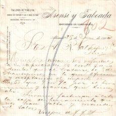 Cartas comerciales: ALICANTE. 1900. CARTA COMERCIAL DE TALLERES DE TONELERIA. ASENSI TABOADA.. Lote 6472879