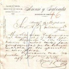 Cartas comerciales: ALICANTE. 1900. CARTA COMERCIAL DE TALLERES DE TONELERIA. ASENSI TABOADA.. Lote 6472885