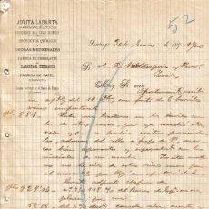Cartas comerciais: SANTIAGO. 1900. CARTA COMERCIAL DE FARMACEUTICO JOVITA LABARTA.. Lote 6570437