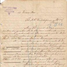 Cartas comerciales: ALBACETE. 1900. CARTA COMERCIAL DE COMISIONISTA. FRANCISCO LOPEZ GOMEZ.. Lote 8686346