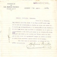 Cartas comerciales: SEGOVIA. 1932. CARTA COMERCIAL DE FARMACIA DEL LDO. EPIFANIO CARRETERO.. Lote 7700639