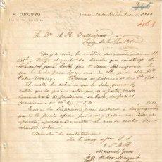 Cartas comerciales: SEVILLA. 1893. CARTA COMERCIAL DE INGENIERO INDUSTRIAL DE M. GROSSO.. Lote 6729135
