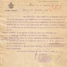 Cartas comerciales: JEREZ DE LA FRONTERA ( CADIZ). 1919. CARTA COMERCIAL DE RAFAEL O'NEALE.. Lote 6965241