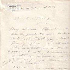 Cartas comerciais: VEJER DE LA FRONTERA (CADIZ). 1946. CARTA COMERCIAL DE JUAN MORILLO MATEO.. Lote 7029124