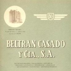 Cartas comerciales: CARPETA DE CARTAS .. BELTRAN CASADO Y CIA SA . Lote 22143016