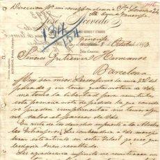 Cartas comerciales: TENERIFE. 1893. CARTA COMERCIAL DE JOSE ACEVEDO.. Lote 7554580