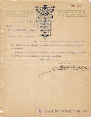 astorga ( leon ). 1923. carta comercial de fabr   Comprar Cartas