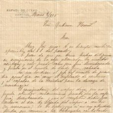 Cartas comerciales: ALGECIRAS ( CADIZ). 1895. CARTA COMERCIAL DE RAFAEL DE OTERO.. Lote 8007274