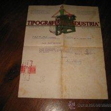 Cartas comerciales: TIPOGRAFIA LA INDUSTRIA GIJON. Lote 9401654