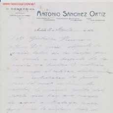 Cartas comerciales: CARTA COMERCIAL H. COMERCIAL .ANTONIO SANCHEZ ORTIZ. Lote 5060666