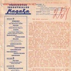 Cartas comerciales: MADRID-CARTA COMERCIAL DE PRODUCTOS INDUSTRIALES MAGAKA.. Lote 7771156