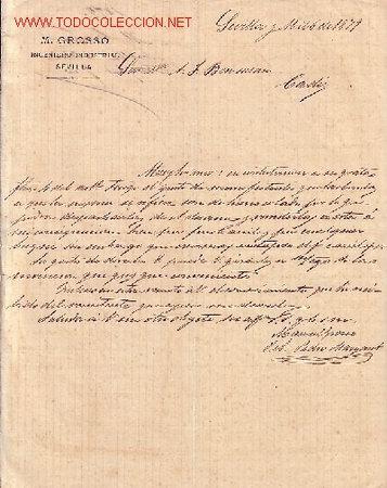 SEVILLA-CARTA COMERCIAL DE M.GROSSO, INGENIERO INDUSTRIAL-. (Coleccionismo - Documentos - Cartas Comerciales)