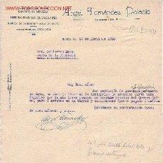 Cartas comerciales: ALMACEN DE VINOS, CERVEZAS, CHOCOLATE. INFIESTO, ASTURIAS.CARTA COMERCIAL DE ANGEL F. PALACIO. Lote 26754705