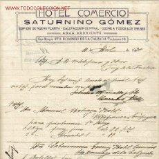 Cartas comerciales: SAN ROQUE - CARTA COMERCIAL DE HOTEL COMERCIO. Lote 2456758