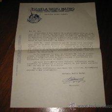 Cartas comerciales: CARTA COMERCIAL ESCUELA RADIO MAYO . Lote 9760619