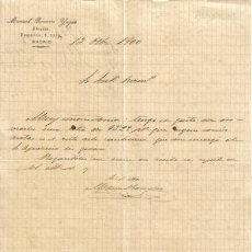 Cartas comerciais: MADRID. 1900. CARTA COMERCIAL DE ABOGADO. MANUEL ROMERO YAGUE.. Lote 9972107