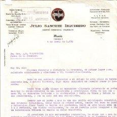 Cartas comerciales: MURCIA.1950. CARTA COMERCIAL DE AGENTE COMERCIAL. JULIO SANCHEZ IZQUIERDO.. Lote 13746943