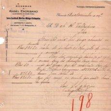Cartas comerciales: GRANADA. 1925. CARTA COMERCIAL. BODEGAS. ANGEL ESCRIBANO. ALMACENISTA DE VINOS FINOS.. Lote 10964752