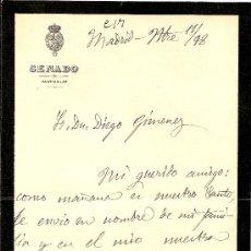 Cartas comerciales: CARTA DE UN SENADOR DEL AÑO 48. Lote 26189327