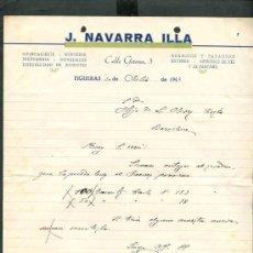 Cartas comerciales: FIGUERES. *J. NAVARRA ILLA* AÑO 1944.. Lote 10693697