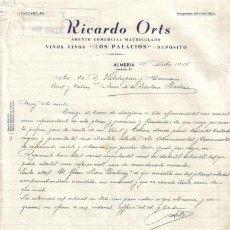 Cartas comerciales: ALMERIA. 1944. CARTA COMERCIAL DE AGENTE COMERCIAL. RICARDO ORTS.. Lote 10701644