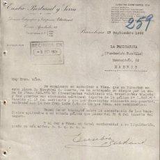 Cartas comerciales: BARCELONA. 1924. CARTA COMERCIAL DE EUSEBIO BERTRAND Y SERRA.. Lote 12702271