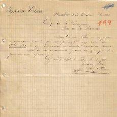 Cartas comerciales: BARCELONA. 1893. CARTA COMERCIAL DE IGNACIO ELIAS.. Lote 13788486