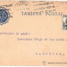 Cartas comerciales: 4271-T. COMERCIAL VICENTE GISBERT DOMÍNGUEZ QUÍMICOS- CIRCULADA DE MISLATA A BARCELONA 1936. Lote 221157103
