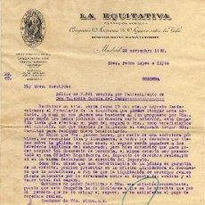 Cartas comerciais: CARTA COMERCIAL - LA EQUITATIVA (CIA.DE SEGUROS) - MADRID. Lote 27431858