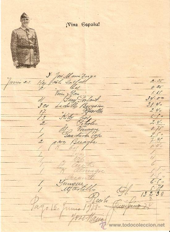 CARTA COMERCIAL CON EL LOGO DE FRANCO (Coleccionismo - Documentos - Cartas Comerciales)