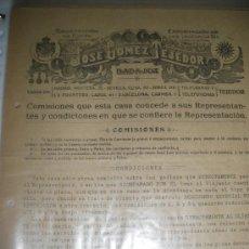 Cartas comerciales: JOSE GOMEZ TEJEDOR, TORREFACCION DE CAFES, LA ESTRELLA. BADAJOZ, PRIMEROS DE SIGLO.. Lote 33707169