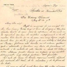 Cartas comerciales: SEVILLA. 1893. CARTA COMERCIAL DE JOSE DE PINEDA.. Lote 16042025