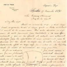 Cartas comerciales: SEVILLA. 1893. CARTA COMERCIAL DE JOSE DE PINEDA.. Lote 16042037