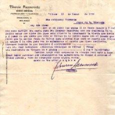 Cartas comerciales: BILBAO. 1926. CARTA COMERCIAL DE AGENTE COMERCIAL. TIBURCIO AZCONOVIETA.. Lote 16067635