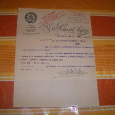 Cartas comerciales: CARTA COMERCIAL G. SENSAT HIJOS, ACEITES Y ACEITUNAS, BARCELONA 22 DE DICIEMBRE DE 1928. Lote 17074119