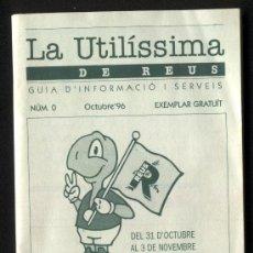 Cartas comerciales: UNA GUIA DE REUS DEL AÑO 1996 DE JUEGOS OLIMPICOS PREOLINPICOS . Lote 17476024
