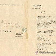 Cartas comerciales: 1 FEBRERO DE 1884. CARTA DE SUSCRIPCIÓN PUBLICACIÓN MUSICAL CORO SACRO. SR. DON DÍO A. VALDIVIELSO.. Lote 27232419